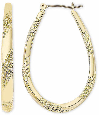 MONET JEWELRY Monet Gold-Tone Large Oval Hoop Earrings