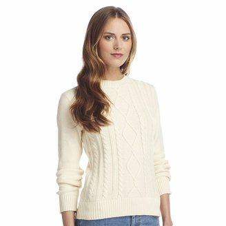 Chaps solid cable-knit sweater - women's