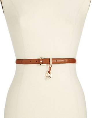 MICHAEL Michael Kors Skinny Leather Belt