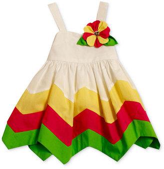 Bonnie Baby Dress, Baby Girls Hanky-Hem Poplin Sundress