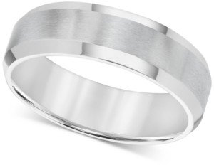 Triton Men's Stainless Steel Ring, Smooth Comfort Fit Wedding Band