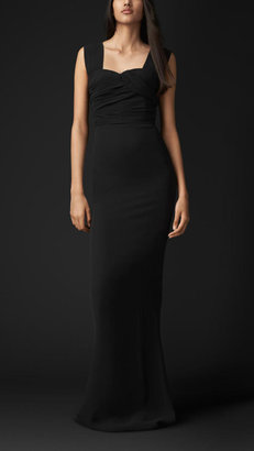 Burberry Wrapped Bodice Evening Gown