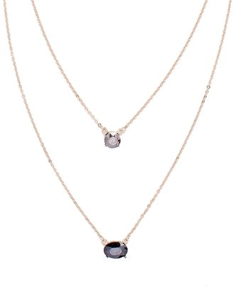 The Limited Stacked Gemstone Long Necklace