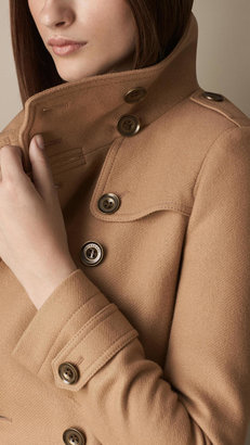 Burberry Short Double Wool Twill Trench Coat