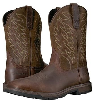 Ariat Groundbreaker Wide Square Toe (Brown) Cowboy Boots