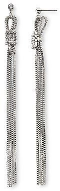 JCPenney Long Chain Crystal Accent Earrings