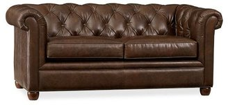 Pottery Barn Chesterfield Leather Love Seat