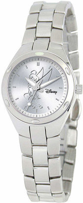 DISNEY PRINCESS Disney Fortaleza Tinkerbell Womens Silver-Tone Watch