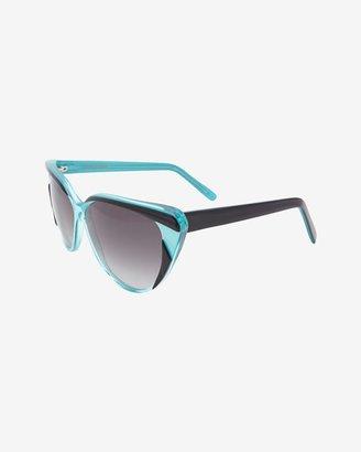 Selima Cat Eye Sunglasses: Aqua