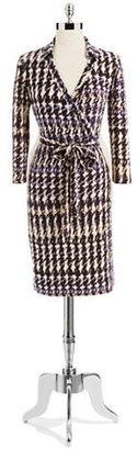 Nine West Imperial Wrap-Around Dress With Tie