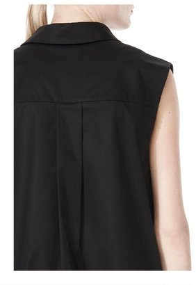 Alexander Wang Low V-Neck Collared Sleeveless Tunic