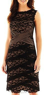 JCPenney Blu Sage Tiered Lace Dress - Petite