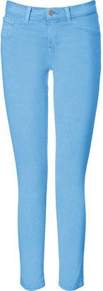J Brand Jeans Neon Blue Mid-Rise Skinny Leg Pants