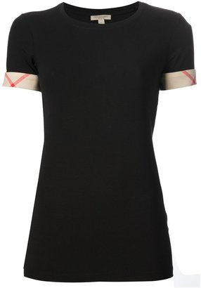 Burberry 'House Check' cuffs T-shirt $123.87 thestylecure.com