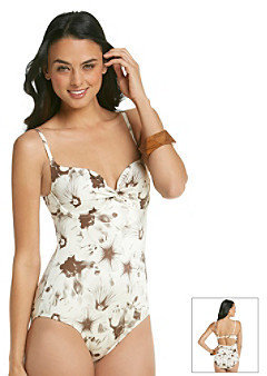 "Vince Camuto Glendale Floral"" Underwire Maillot One-Piece Swimsuit"