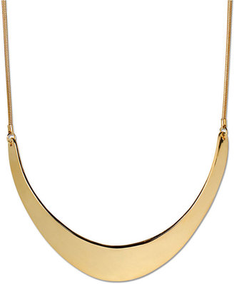 Kenneth Cole New York Necklace, Gold-Tone Half Moon Frontal Necklace