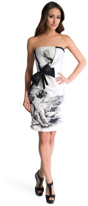 Prabal Gurung Painted Rosette Dress