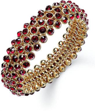 Charter Club Gold-Tone Siam Bubble Bead Stretch Bracelet