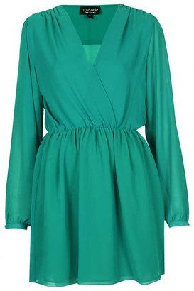 Topshop Chiffon Wrap Dress