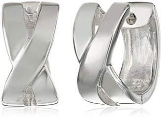 """Zina Sterling """"Contemporary Collection"""" X-Snap Hoop Earrings"""