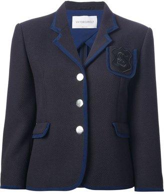 Viktor & Rolf crest detail piqué blazer