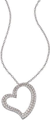 Lafonn Warped Open Heart Necklace