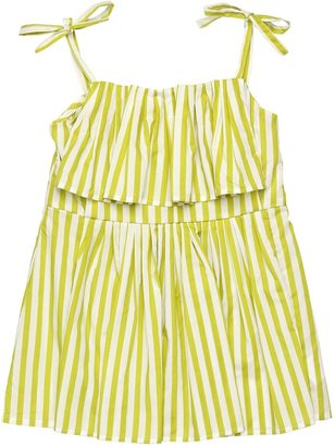 Striped Cotton Sateen Top