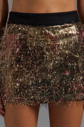 Camo ROSEanna Gorden Tinsel Gold Skirt