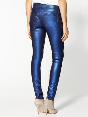 7 For All Mankind Dream Liquid Metallics Skinny Jeans