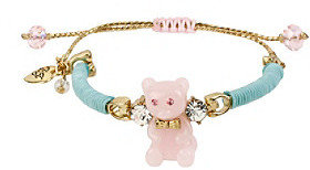 Betsey Johnson Pink/Green Gummy Bear Friendship Bracelet