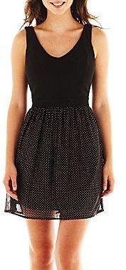 JCPenney V-Neck Glitter Dot Dress