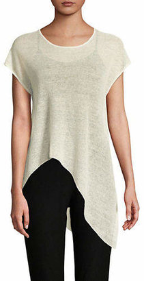 Eileen Fisher Asymmetrical Hem Top