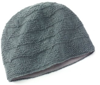 SIJJL Pyramid Knit Wool Gray Beanie Hat