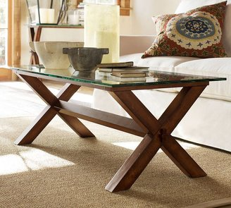 Pottery Barn Ava Wood Coffee Table - Espresso stain