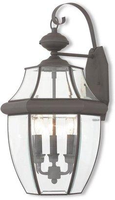 Livex Lighting Monterey 3-Light Bronze Outdoor Wall Mount Lantern