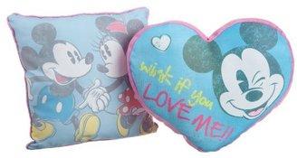 Disney Mickey & Minnie Vintage Decorative Pillow 2-pk