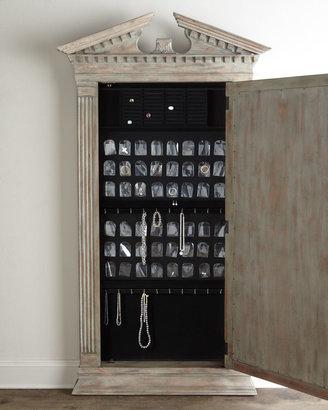 """Horchow """"Cavalier"""" Storage Floor Mirror"""