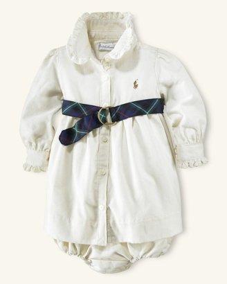 Polo Ralph Lauren Baby Girl Auburgine Corduroy Shirt Dress