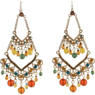 Charlotte Russe Beaded Chandelier Earrings