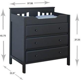 DaVinci Jayden 3-Drawer Changing Table - Ebony-Ebony