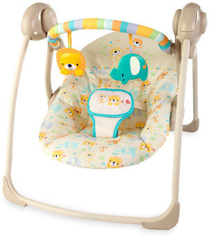Bed Bath & Beyond Bright Starts™ Dots & Spots Safari Portable Swing