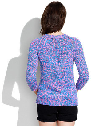Madewell Neon Weave Sweater