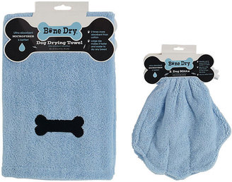 JCPenney Microfiber Embroidered Towel and Drying Mitts Set