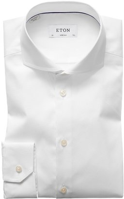 Eton White Extreme Cut Away Shirt - Super Slim Fit