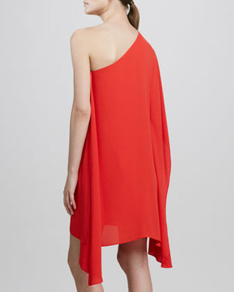 BCBGMAXAZRIA Sweeping One-Shoulder Dress