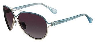 Diane von Furstenberg Stella Aviator Sunglasses In Teal