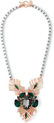 Anton Heunis Exclusive Art Deco Crystal Cluster Necklace