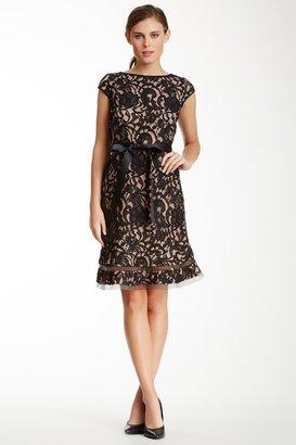 SL Fashions Lace Cap Sleeve Dress