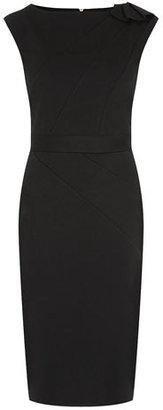 Dorothy Perkins Black twill dress with shoulder peplum