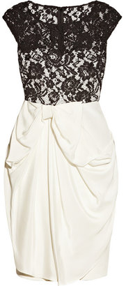 Notte by Marchesa Silk-jersey and lace dress
